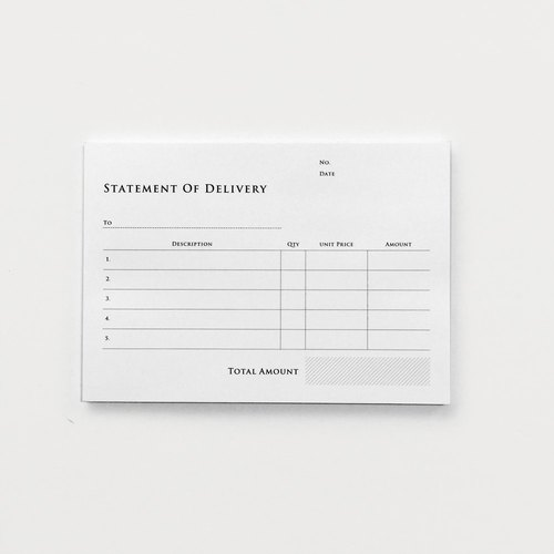 KNOOP WORKS Paper Goods (Statement of Delivery)