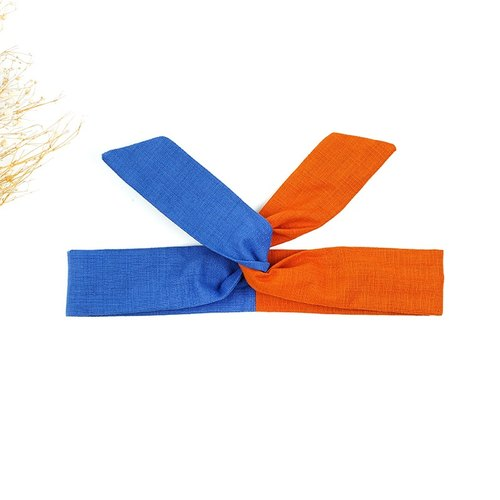 Calf Village Calf Village Handmade Hair Accessories Aluminum Wire with Multi-styled Headband Japanese Plain Patch {DRAGON BALL} Orange / Blue [A-158]
