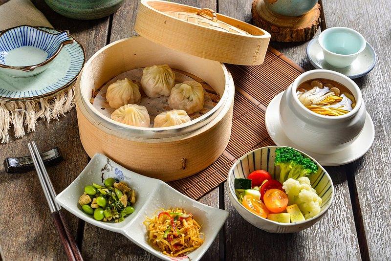 竹里館 x Pinkoi | 美人絲瓜湯包 單人定食 | 蔬食體驗
