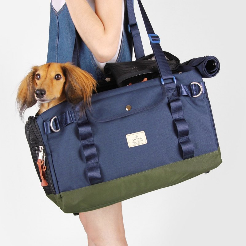 SPUTNIK Pet Outing Bag - Blue (M)