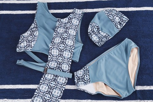COMBO SET Mystic Quartz set and and Hidden Gems Cap in blue/print