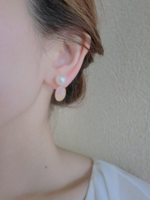 2way natural Shell & Pearl Earrings