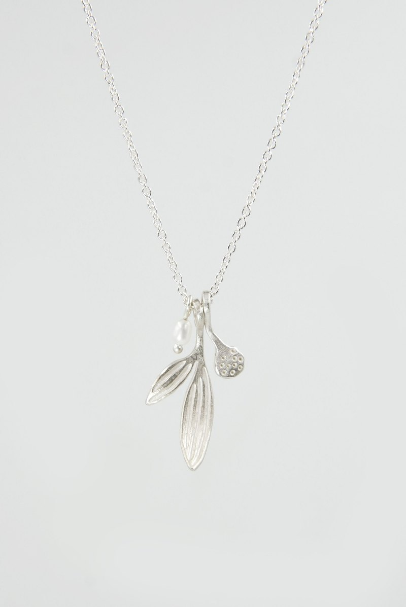 I-Shan13 small grass small leaf necklace short