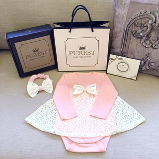 PUREST little princess gorgeous dress / long sleeve gift box group / baby Mi Yue / birthday / gift preferred