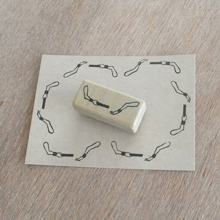 "Handmade rubber stamp ""Baton Pass"""