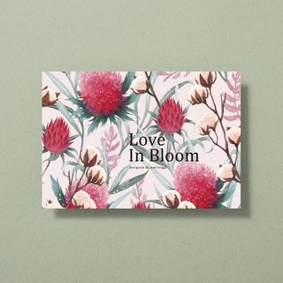 Illustrator postcard - Love in bloom