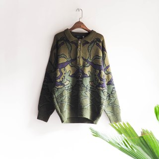 River Hill - Dreams of Youth olive green puzzles totem antique woolly hair shirt vintage sweater cashmere vintage oversize