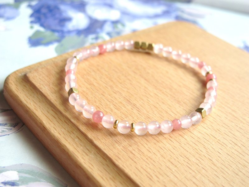 Rhodochrosite x Pink Crystal x Brass [Good Popularity Baby]-Handmade Natural Stone Series