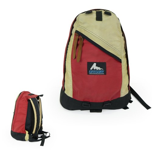 A‧PRANK: DOLLY :: Vintage outdoor VINTAGE brand GREGORY made in the United States 90's blue font standard red and black color goose backpack