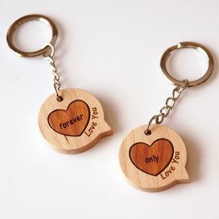 Announcement key ring - two into - free free lettering (lettering content please leave a message in the remarks column)