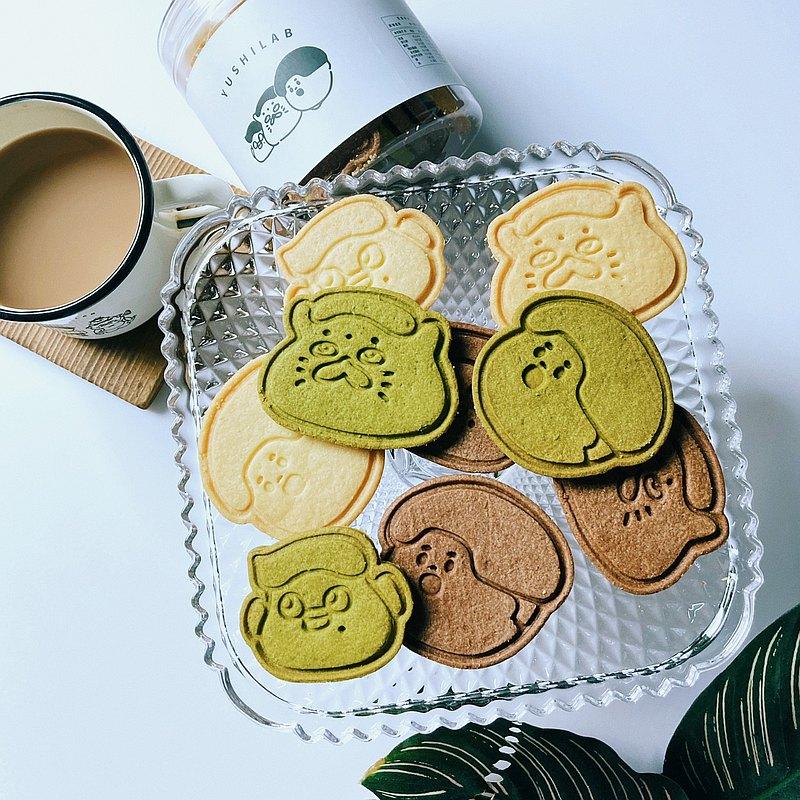 愚室大頭綜合餅乾 三種口味 盒裝15片 原味 抹茶 巧克力