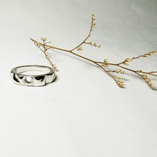 Promise series -Full Moon -handmade silver ring