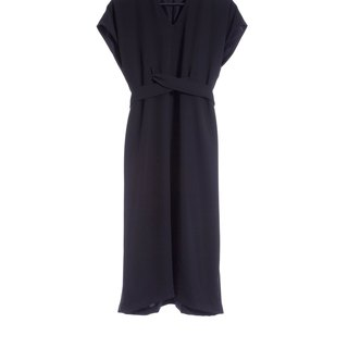 16 autumn and winter sale 16AW V collar long dress