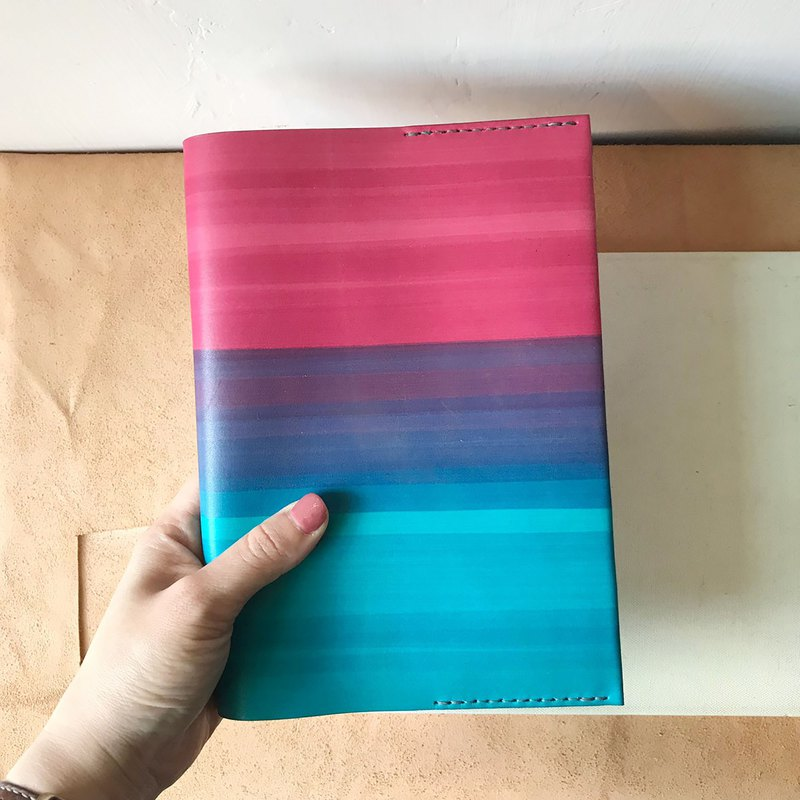 Leather book cover _ travel PDA _ MUJI A5 size _ reading page design _ 胭 粉 渐 里 里 里 里