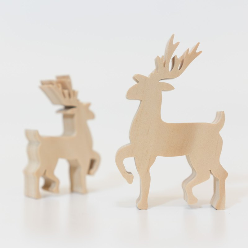 wagaZOO thick-cut building blocks forest series-big elk