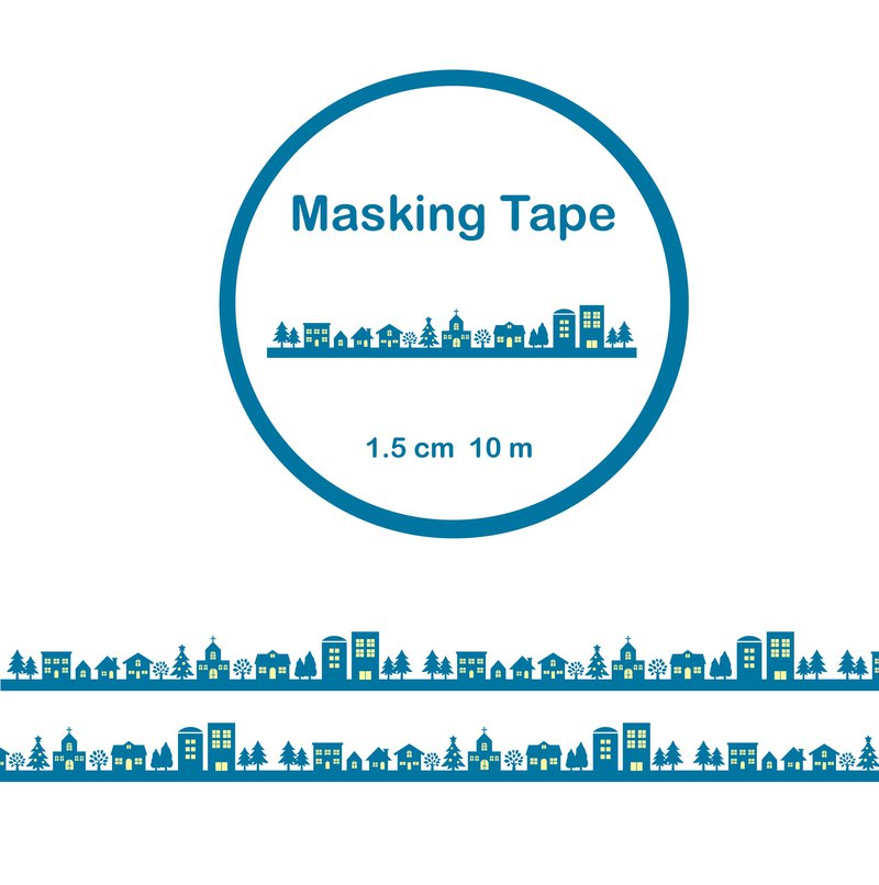 Night street paper tape