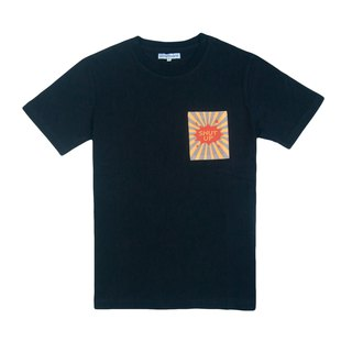 Dosquare - Cotton Black T-shirt with Pocket (SHUT UP)