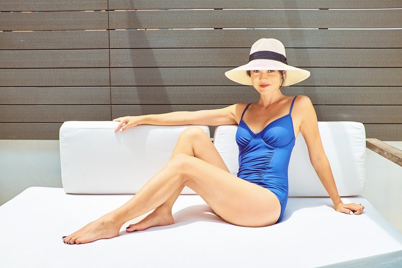LAUREN: The perfectly ruched sculpture swimwear
