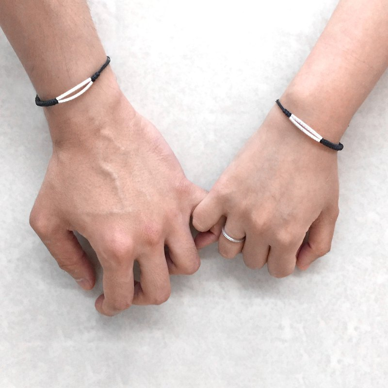 Double Twisty Line Couples Bracelet | Twistey Line Bracelet | Couples Bracelet