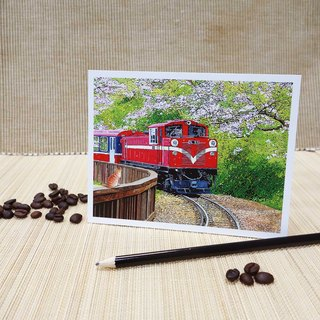 [㊣ Taiwan Artist - Postcard Linzong Fan] - to greet the arrival of spring