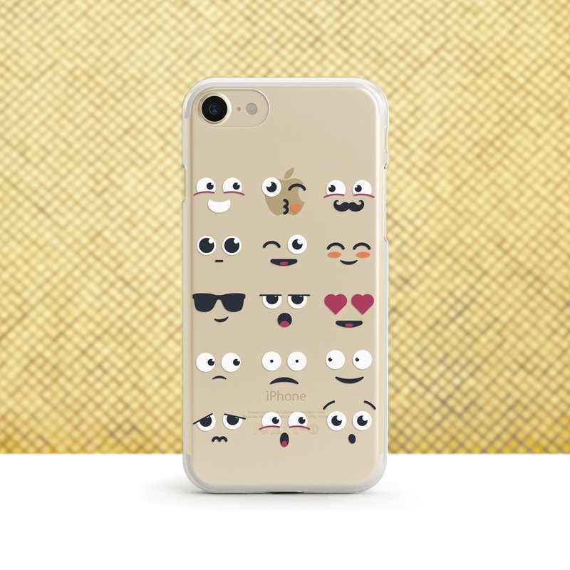 Emoji-transparent soft case - iPhone 11, Xs to iPhoneSE, Samsung