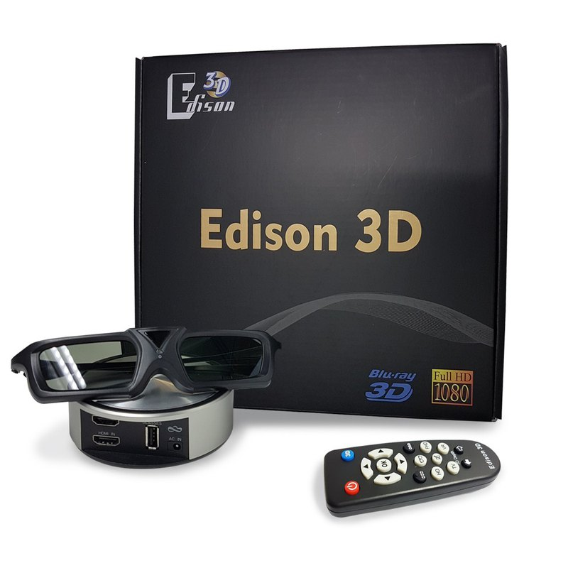 Edison 3D Converter + 3D Glasses x2 Water kinetic photocatalyst filter net kettle