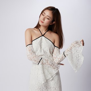 Casey White Off Shoulder Lace Dress
