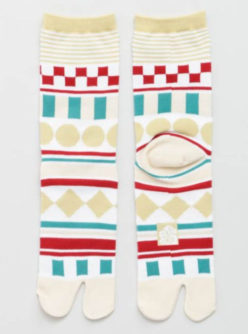 [Popular Pre-Order] Geometric Pattern Two Finger Socks 23 ~ 25cm 7JKP9109