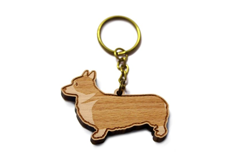 Keji---Corgi/Short/Mao/Pet/Dog/Music/Log Key Ring