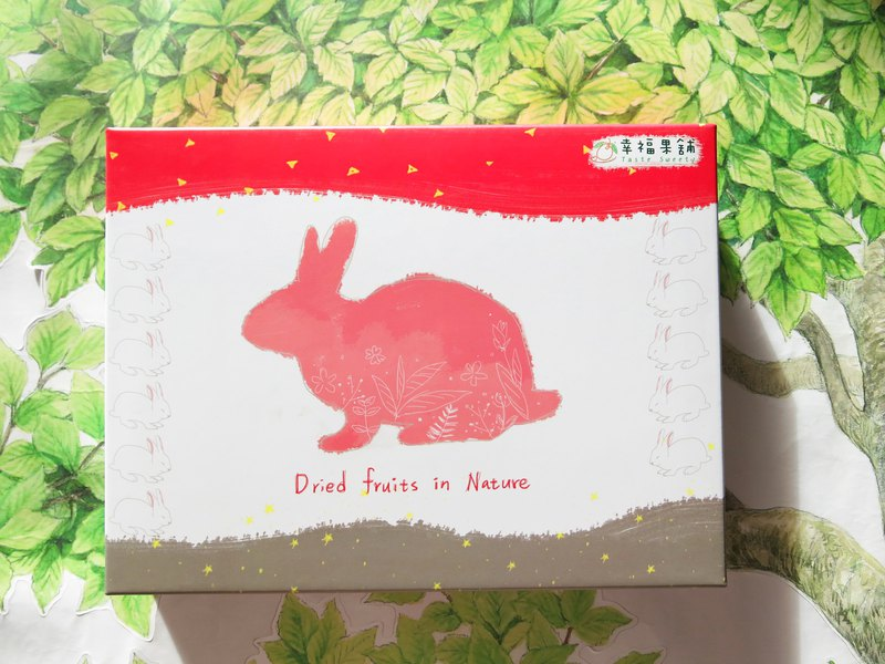 Pink rabbit fruit gift box (6 grids 12 in / 18 in)