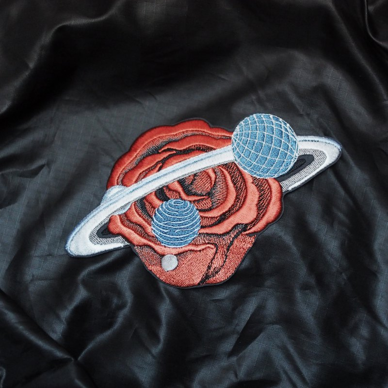 Galaxy Rose Embroidery Iron-on Patch