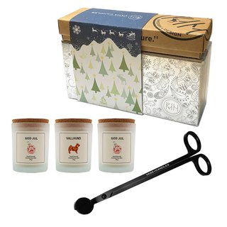 Vana Candles Christmas Silver Gift Set - Candle Cut