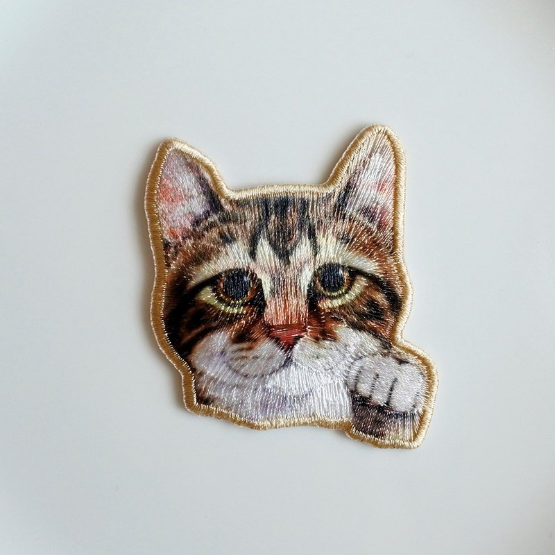 Photo Cat Embroidery Film-O (Ironing required)