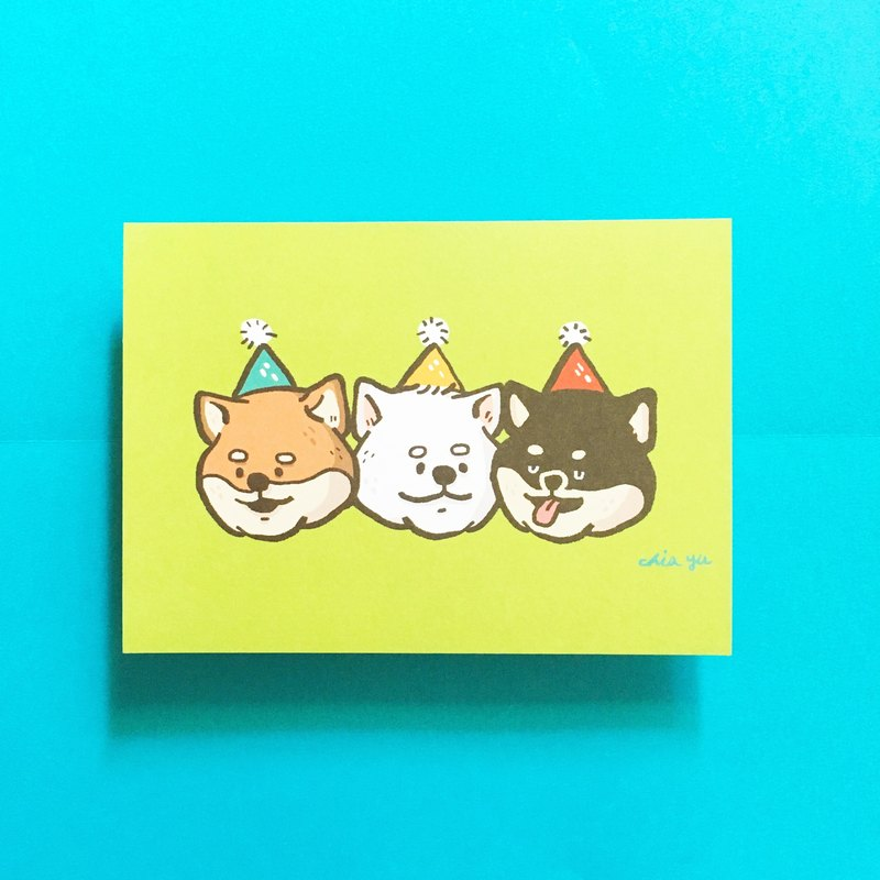 Three Chai friends / postcards