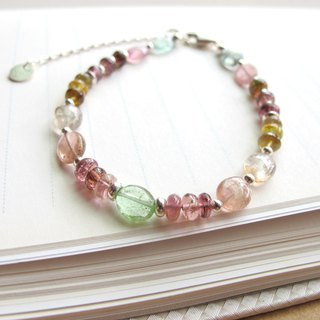[Funny Bounce] Multicolor Tourmaline x 925 Silver - Handmade Natural Stone Series