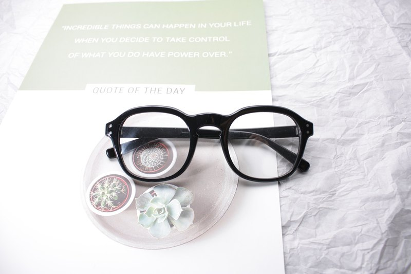 Prototype Black eyeglasses Handmade in Japan