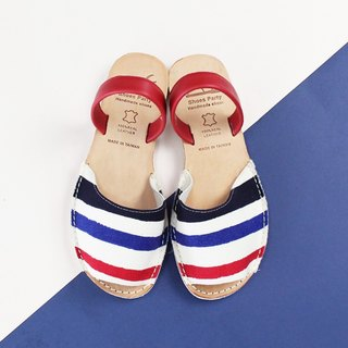 Shoes Party Red Stripe Handmade Mini Toe Sandals/S2-15431F