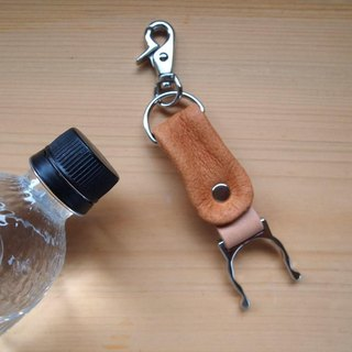 Swine leather * PET bottle holder * Camel color * Leather
