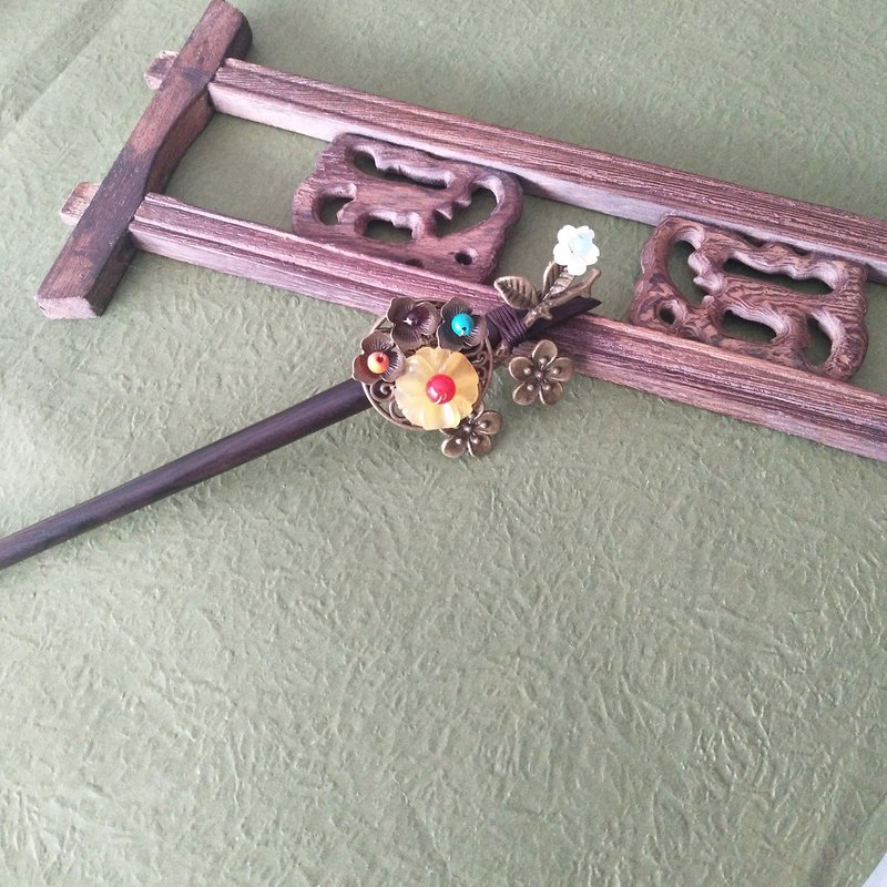皖青-Retro hairpin Chinese style hair fork hair accessories