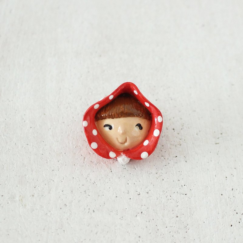 Lena & Friends Pin -  Red Riding Hood Brooch