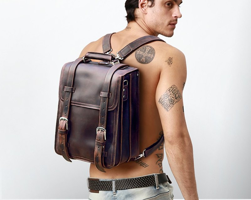 Leather Backpack, Messenger Bag, Shoulder Bag, Briefcase, Laptop Bag, School Bag