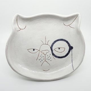 [Attitude so what] cat duke shallow dish