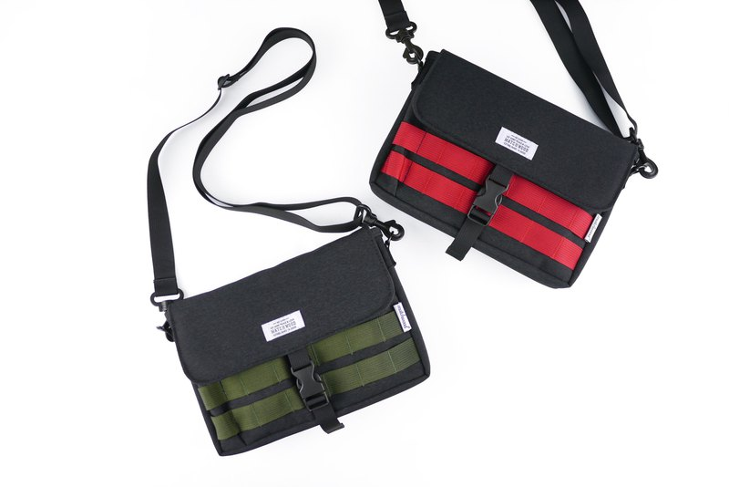 Matchwood Design Matchwood Sacoche Waterproof Small Bag Switch Storage Bag Army Green/Red