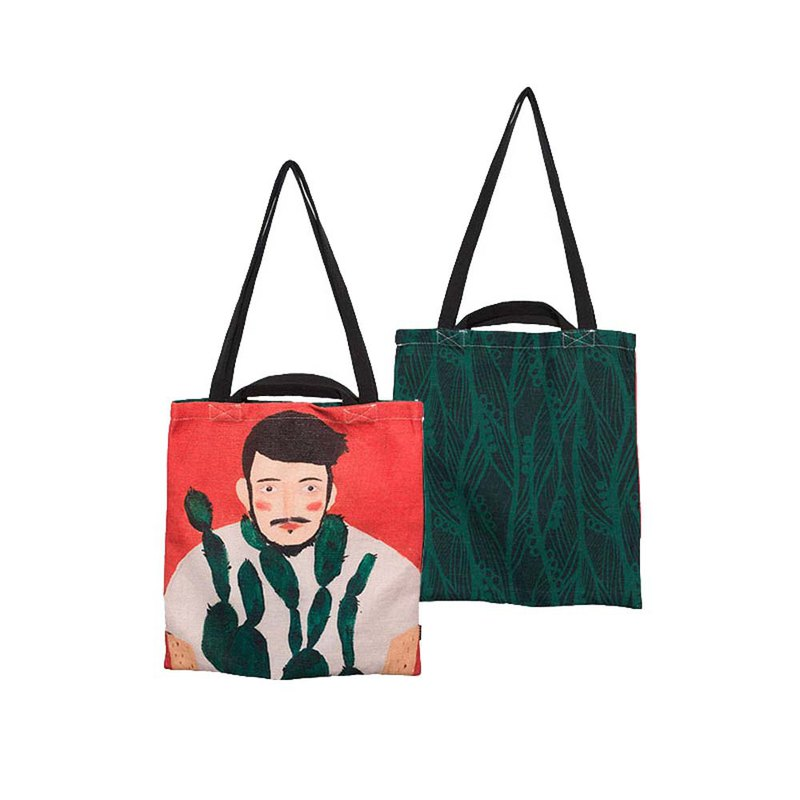 [draft / ciaogao] original design ins net red cactus boy handbags canvas bag shopping bag