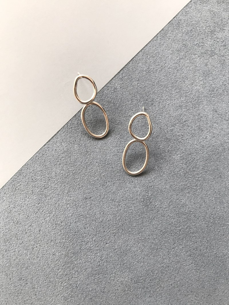 Classic Geometry Series - Double Circle Sterling Silver Earrings