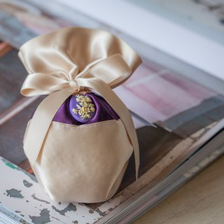 French scent bag / satin bouquet / violet incense