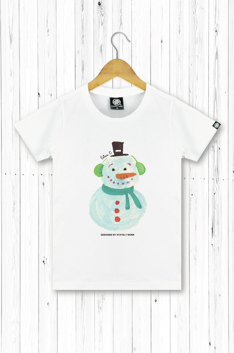 STATELYWORK Christmas Snowman Hand-painted T-Women