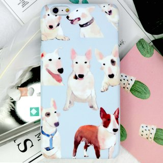 Watercolor Bull Terrier Dog Phone Case Cover iPhone X 8 8+ 7 7 Plus Note 8 S9 LG
