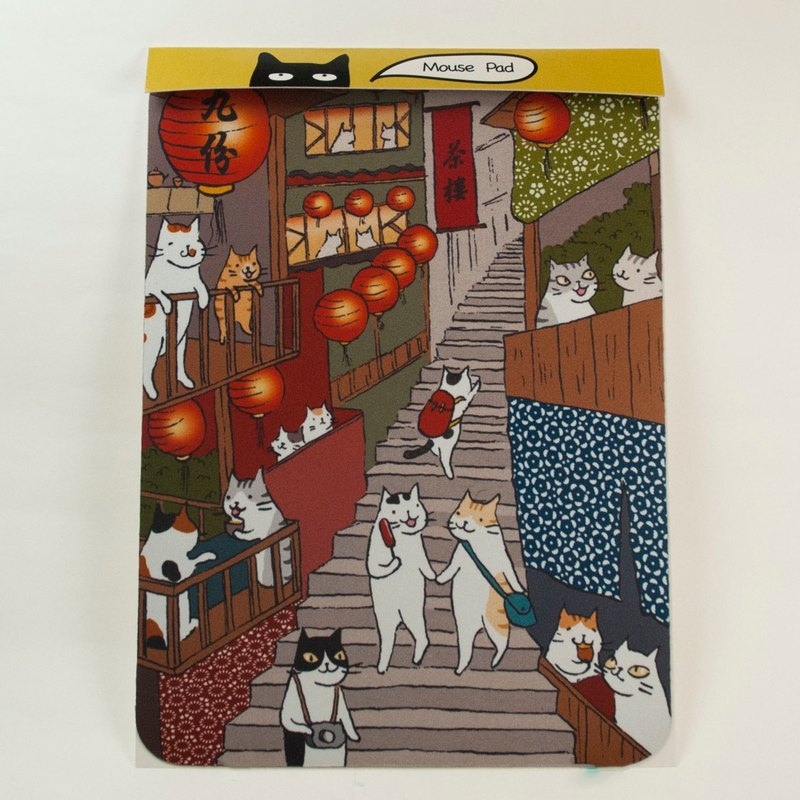 Three Cat Shop ~ Jiufen Mountain City Mouse Pad (Illustrator: Miss Cat)