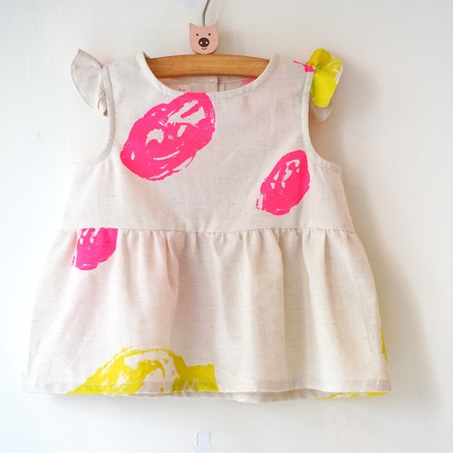 Yinke Beige Rock Small Dress / Can Tops:) 2-4y